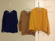 Lot Of Three Women's Sweaters Old Navy & Ann Taylor Loft Size L Cotton Blend