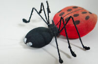 Antique Vtg Pin Cushion Ladybug Lady Bug Insect 1920s to 1930s