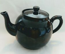 Vintage Black Ceramic Glass  Teapot unmarked