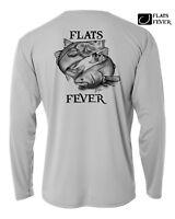 Long sleeve Microfiber Fishing Shirt UPF Redfish Snook Flats Sun Shirt