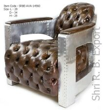 Aluminium Aviator tomcat Leather Arm  Sofa Chair Furniture Hotel Club Handmade
