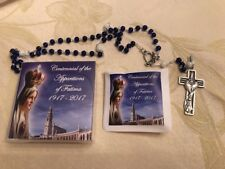 NEW Our Lady Of Fatima 100th Anniversary Rosary w/ Decorated Case by Ghirelli