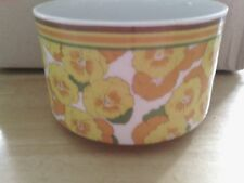 "AVANT GARDE FROLIC FLOWER COLLECTION JAPAN SUGAR BOWL NO LID 4-1/4"" X 2-1/2"""