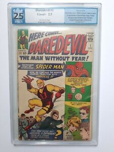 Marvel Daredevil #1 PGX 2.5  OW Pages 1964 1st appearance Matt Murdock  HOT CGC