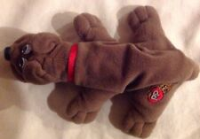 Pound Puppies Puppy Tonka Brown Dog With Red Collar Bumple Skins