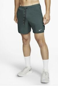 "Nike Flex Stride Mens 7"" 2-in-1 Running Shorts Pro Green Size L CJ5471-397"