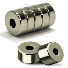 Neodymium 5pcs 15mm x 5mm With 5mm Hole Ring Magnet Rare Earth Disc magnete