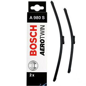 "For VW Jetta 16 Saloon Aero VU Front Flat Windscreen Wiper Blades 16//16/"" Inch"