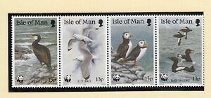 (90287) GB Isle of Man MNH WWF Seabirds 1989