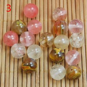 Natural GemstoneVolcanic Cherry Quartz Beads Loose Beads 30PCS 6MM