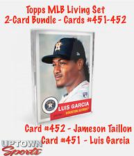Topps MLB Living Set 2-Card Bundle Cards #451-452 - Luis Garcia - James Taillon