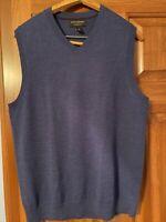 Banana Republic blue sweater vest M 100% merino wool v-neck