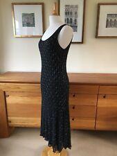 Hobbs Black Silk and Bead Evening Dress - Asymmetric Hem - Pristine - L