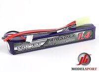 NanoTech 1400mah 3 Cell Airsoft Lipo Stick Battery Pack 11.1V  15 - 25 C