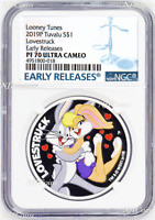 2019 LOONEY TUNES Lovestruck Proof $1 1oz Silver COIN NGC PF 70 ER