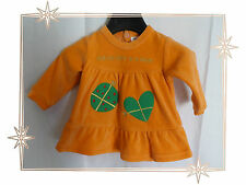 Superbe Robe en Velours Orange Coeur  Agatha Ruiz De La Prada Baby Taille 1 Mois