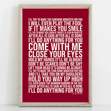 More details for phil collins come with me song lyrics poster print wall art