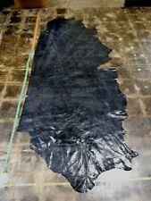 Italian Cowhide leather skin Distress dark royal Blue 38''x74'' Inches 1 mm 2 oz