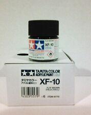 Tamiya acrylic paint XF-10 Flat brown 10ml Mini.