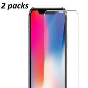 Tempered Glass Screen Protector For  iPhone 12 Pro X XR XS Max 7 8 Transparent