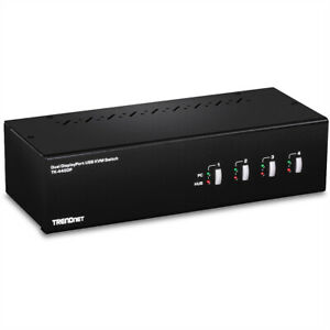 TRENDnet TK-440DP 4-Port Dual Monitor Display Port KVM Switch