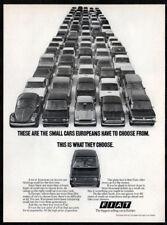 1974 FIAT 128 Vintage Original Print AD - Small cars europeans hove choose USA