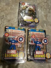 2 Captain America's and 1 Toad figure from MARVEL LEGENDS SERIES 1 2002 MOC