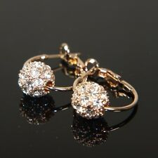 """9K 9ct """" Gold Filled """" Earrings made with Swarovski Crystal  Xmas Gift E553g"""