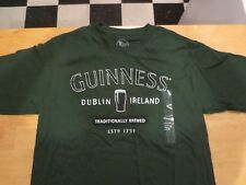 Genuine Guiness Logo Official Merchandise Men's Green T Shirt Size Med (32-34)