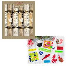 12 Confezione Lusso 34cm Cracker di Natale - Colomba Oro / Crema