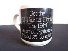 VTG 80's IBM All Nighter Fighter Personal System Model 25 Computer Coffee Mug