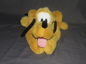 "sh8 Disney Store Authentic PLUTO DOG Super Soft Plush Stuffed Animal 16"" long"