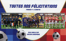 Gambia 2018 MNH FIFA World Cup Football 2018 France Winners 3v M/S Soccer Stamps