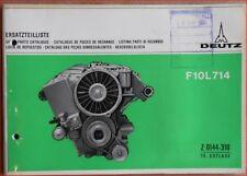 Deutz Ersatzteilliste F 10 L 714 Motor