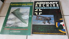 Horten Flying Wing WWII + Airraft Archive Original Scale Drawings Book Lot of 2