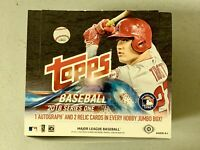 2018 Topps Series One HTA Jumbo Empty Box with Images of Mike Trout LA Angels