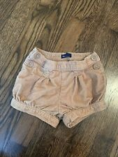 Baby Gap Light Brown/Tan Corduroy Bubble Shorts With Size Buttons 18-24 Months