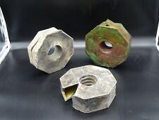 3 Vases sculpture design Année 80 forme libre Ceramique art deco Signé