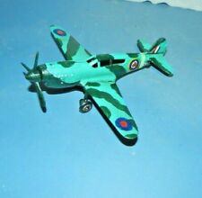 """WWII Cast Iron Fighter Airplane Camo Paint SINGLE ENGINE 7 1/2"""" Nice"""