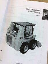 Case 1840 Skid Steer Uni-Loader Parts Catalog Manual Book