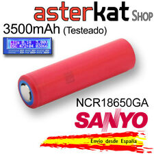 Pila 18650 SANYO 3500mAh 3,6V Original NCR18650GA Recargable Litio LI-ION 10A