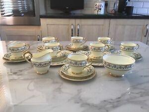 Vintage New Chelsea Staffordshire China 28 Piece Tea Set - Afternoon Tea/Wedding