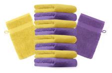 Betz lot de 10 gants de toilette Premium: violet &  jaune, 16 x 21 cm