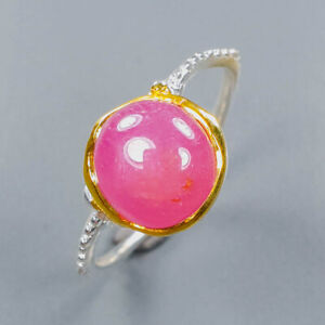 Handmade Jewelry Ruby Ring Silver 925 Sterling  Size 10.25 /R152415