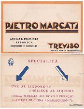 # TREVISO: testatina- PIETRO MARCATI - Fabbrica liquori e rosolii - (cartoncino)