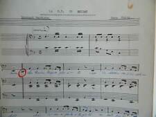 Partition manuscrite Musique chant LA B.B. du soldat Bernard Gauthron Véra valay