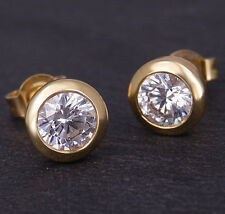 Ohrstecker in 750/18K Gelbgold 2 Diamanten Brillant - Schliff ca. 1,00ct. W / SI