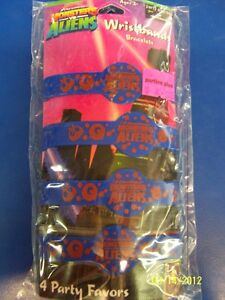 Monsters vs. Aliens Movie Cartoon Kids Birthday Party Favor Rubber Wristbands