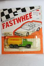 1970's Playart Fast Wheels, Ford Shell Oil TankerTruck,  New on Card