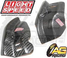 LightSpeed Carbon Engine Case Guard Left Right Set For Honda CRF 250X 2004-2012